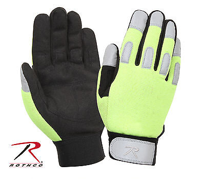 New Rothco 4413 Lightweight Reflective Safety Green All-Purpose Duty Gloves