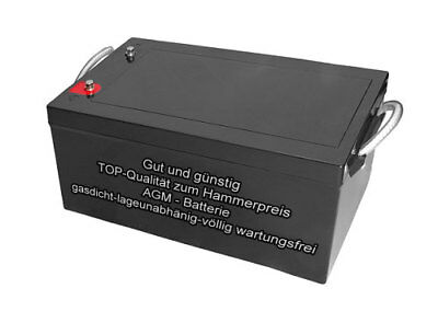 12V  Bootsbatterie - Solarenergie 260Ah AGM Batterie Zyklenfest Wartungsfrei