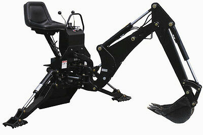 """Mini Skid Steer Backhoe Attachment  With 12"""" Bucket"""