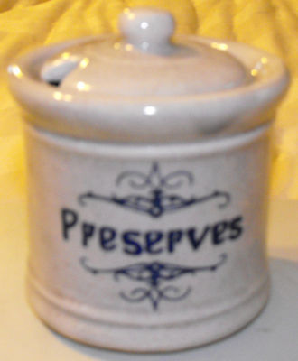 Vintage Mccoy Pottery Preserves Jelly Jar With Lid #1853