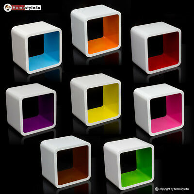 Cube Design Retro Wandregal CD Regal bunt Bücherregal Cubes Würfel