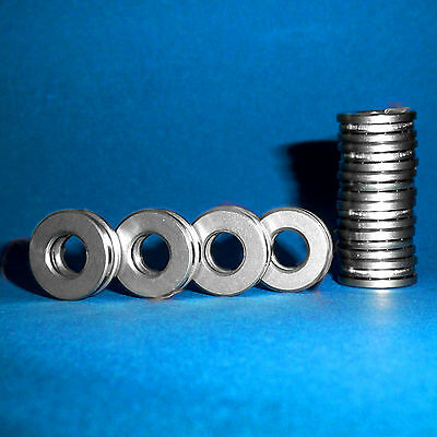 10 Axiallager / Axial Kugellager / Drucklager F7-17M / 7 x 17 x 6  mm