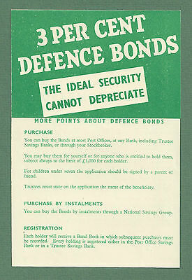 C1951 National Savings Defence Bonds Information Booklet Excellent Condition