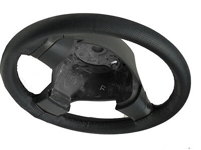 For Vauxhall Astra F Real Black Perforated Italian Leather Steering Wheel Cover
