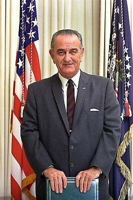 Us President Lyndon B Johnson 8X10 Glossy Photo Picture
