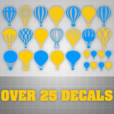 VINYL DECAL Hot Air Balloon Sky Kids Bedroom Nursery Play Room Wall ...