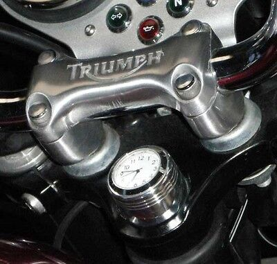 British Made Grooved Triumph Bonneville® / Thruxton Stem Nut Clock