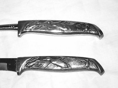 Vintage Silverplate 2 Piece CARVING Set of FLYING GEESE Used 1X