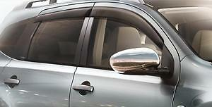 Gen Nissan Qashqai Genuine Window Wind/RainDeflectors Front+Rear Set H0800JD000