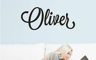 Script Custom Personalised Name Removable Wall Decor Sticker Decal Door Nursery