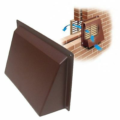 """9"""" x 6"""" Brown Cowl Vent Cover for Openings Air Bricks Grilles Vents Extractors"""