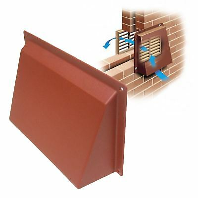 """9"""" x 6"""" Terracotta Hooded Cowl Vent Cover for Air Bricks Grilles Extractors"""