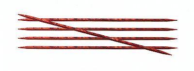 Knitpro Cubics Rose Wood Double Pointed/DPN Needles 15/20 cm 2 - 8 mm