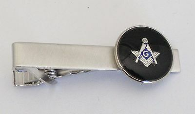 "NEW Mens 2"" Tie Bar /Clip/Clasp Boxed- Masonic Master Mason Made in U.S.A"
