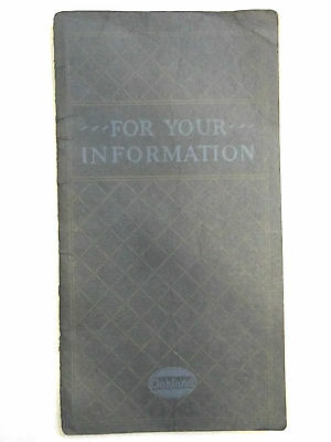 1920 Oakland advertising booklet - For your information
