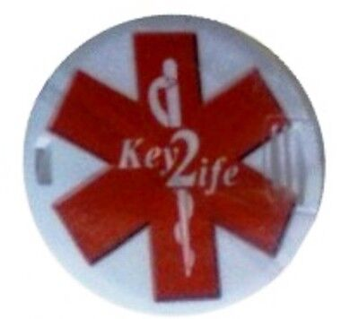Medical Alert Device Key2Life Poker Chip Size Medi Chip Necklace
