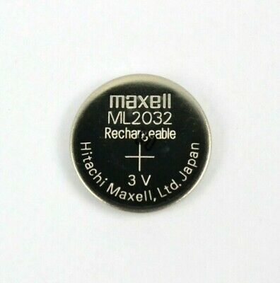 New Maxell ML2032 Rechargeable CMOS Lithium Backup Battery 3V Original