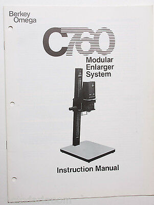 Omega C760 Enlarger Instruction Owners Set-Up Manual Guide Book English USED B43