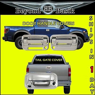 2004-2014 FORD F150 Chrome 2 Door Handle Covers 1KH W//Keypad+Tail Gate W//Keyhole