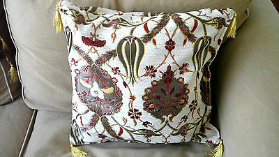 "Turkish Anatolian Ottoman Jacquard Pillow Cover Double Side Zippered 27/""x27/"",M11"