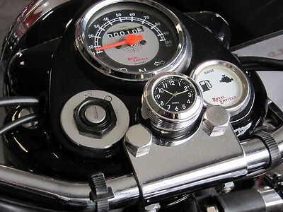 British Made Grooved Royal Enfield ® Stem Nut Clock