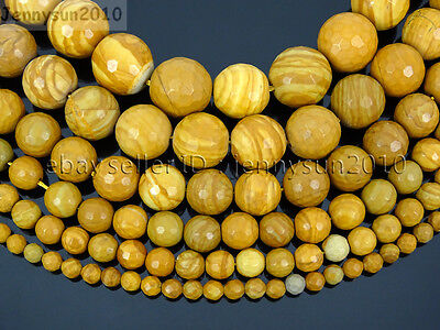 Natural Wood Grain Jasper Gemstone Faceted Round Bead 15'' 4mm 6mm 8mm 10mm 12mm