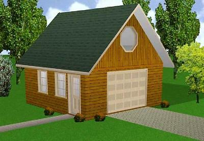 20x20 Garage w/Loft Plans Package, Blueprints, Material List