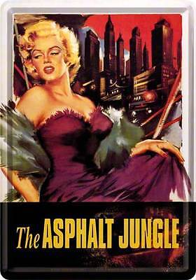 Retro Tin Metal Postcard 'MARILYN MONROE' Mini Sign Col 'ASPHALT JUNGLE'  Movie