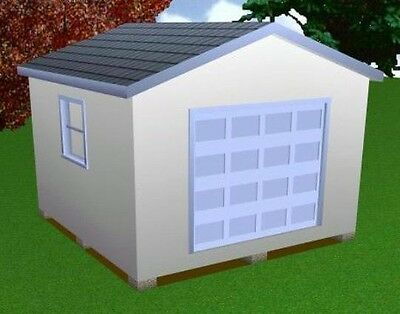 14x14 Storage Shed Plans Package Blueprints Material List