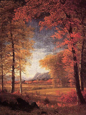 Stunning huge Oil painting Autumn landscape in America handpainted canvas