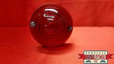(L5)Cafe Racer Rear Light Stop/Tail With Brake Light 70Mm Round -New - Free P/P