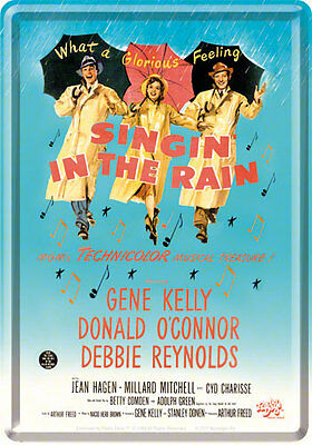 Retro Tin Metal Postcard 'SINGIN' IN THE RAIN' Mini Sign 10 x 14cm Movie Advert
