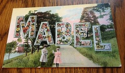 """Vintage Post Card Unused uncirculated Name Of """"Mabel"""" Is On Card Made Germany"""
