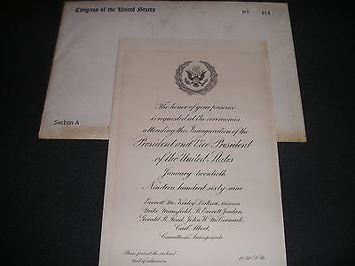 White House President Richard Nixon VIP Inauguration Invitation 1969