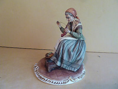 Beautiful Capodimonte Works of Art Italy Porcelain Figurine Signed V. LAMAGNA