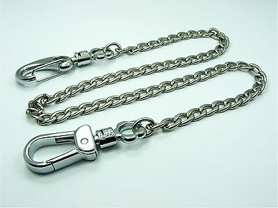 STAINLESS STEEL Wallet Key CHAIN Security Double SWIVEL Snap CLIP Lobster CLASPS