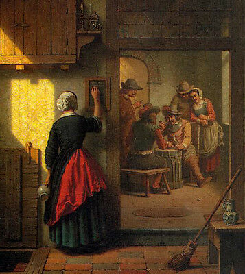 Oil painting portraits Cavalrists Playing Dice in a Tavern canvas hand painted