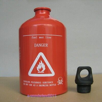 Red Spare Fuel Bottle 30oz 1000ml Aluminum  Gas Can Free Shipping