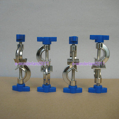 4 × NEW Lab Stands Boss Head Clamps Holder Laboratory Metal Grip Supports