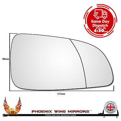 Right Hand Drivers Side Vauxhall Astra H 2004-2010 WIDE ANGLE Wing Mirror Glass