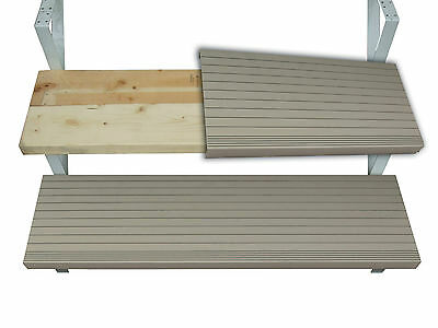 Outdoor STEP CAP covering wooden stairs 5 feet long
