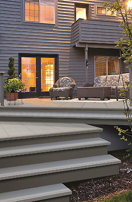 Outdoor STEP CAP covering wooden stairs 6 feet long