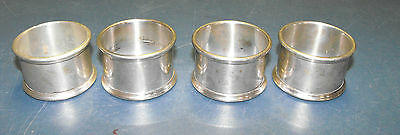 Vintage Lot 4 Solid 1950'S Gorham Sterling Silver Napkin Rings W10 Excellant
