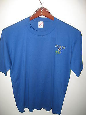 Soccer Dad Vintage 1970's Jerzees Thin USA Cotton Blend Embroidered T Shirt XLg