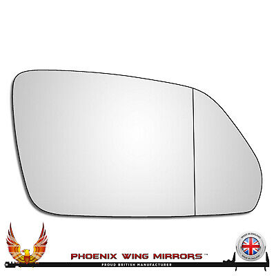 Right Hand Drivers Side VW Polo Mk4 2005-2010 Wide Angle Wing Door Mirror Glass