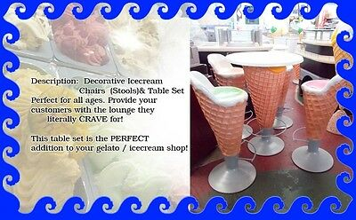 Delicious Ice Cream Cone Table & Stools Set