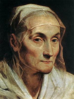 Oil painting Salome Guido Reni - Portrait of an Old Woman canvas