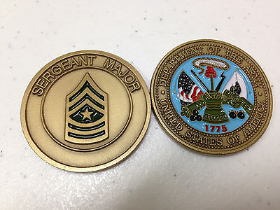 Department Of The Army Sergeant Major Challenge Coin New