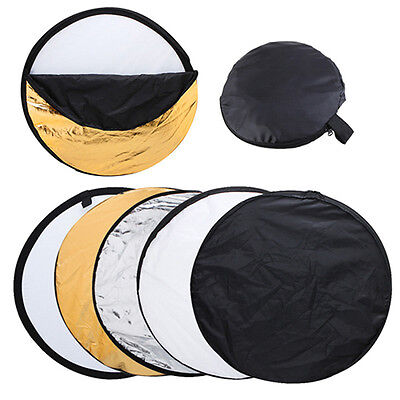"""Photography Studio Photo 43"""" 5-in-1 Light Mulit Collapsible disc Reflector 110cm"""