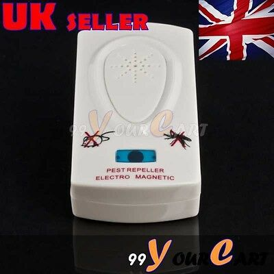 Ultrasonic Electronic Mosquito Bug Mouse Pest Rodents Repeller Repellent UK SALE